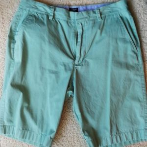 Jcrew men rivington green cotton shorts 31w